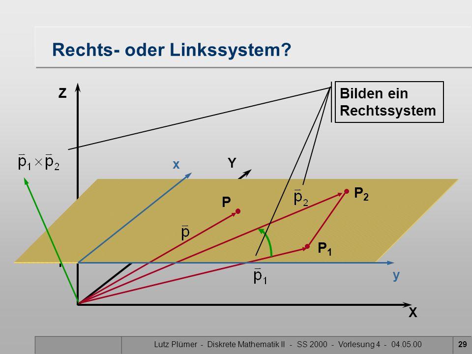 Rechts- oder Linkssystem