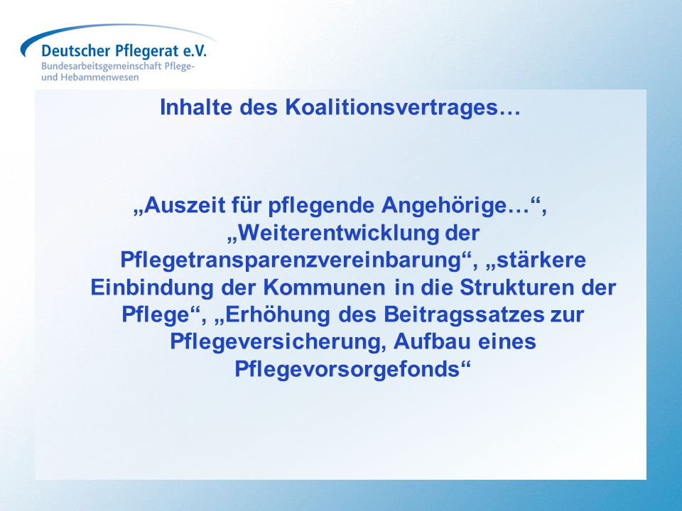 Inhalte des Koalitionsvertrages…