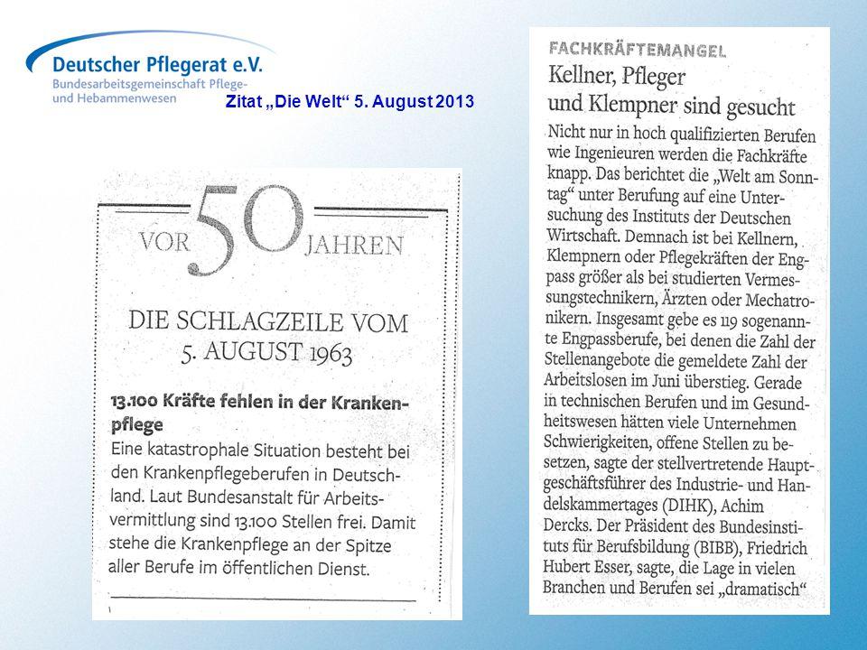 """Zitat """"Die Welt 5. August 2013"""