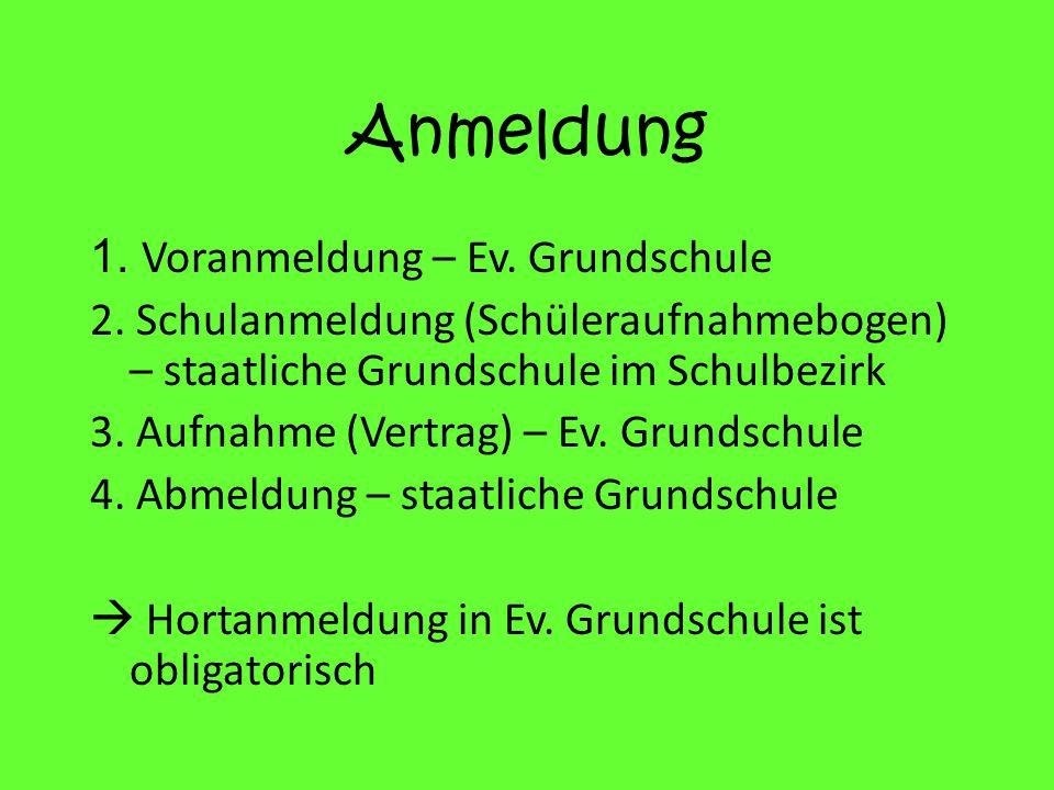 Anmeldung 1. Voranmeldung – Ev. Grundschule