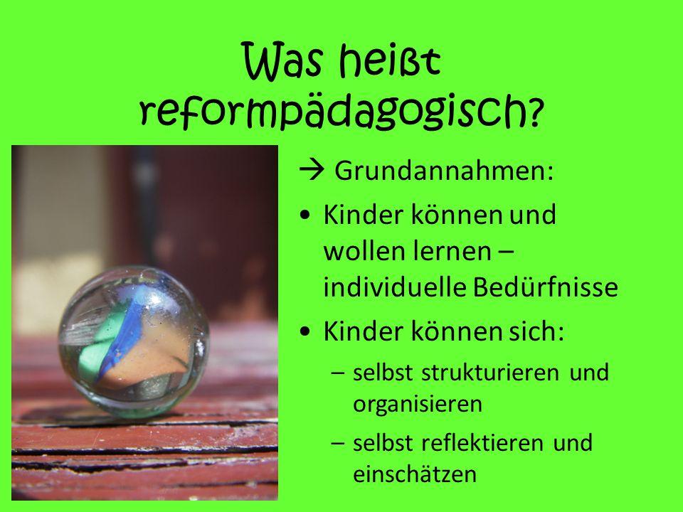 Was heißt reformpädagogisch