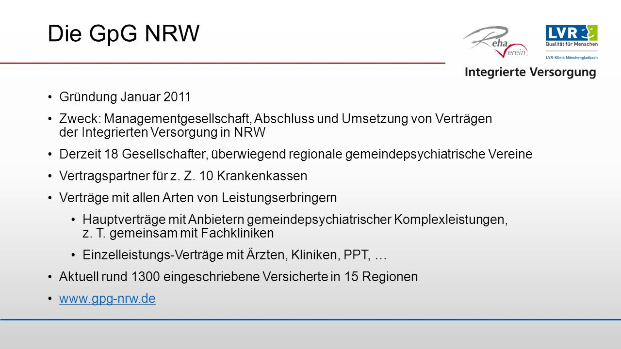 Die GpG NRW Gründung Januar 2011