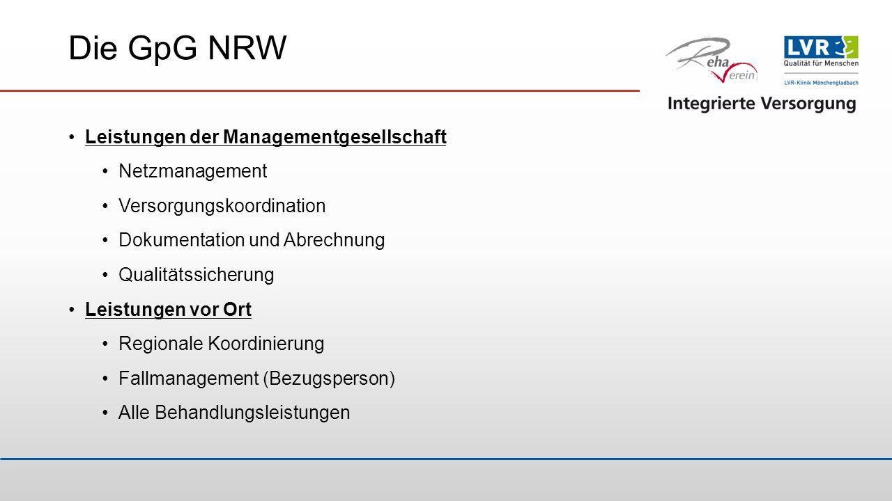 Die GpG NRW Leistungen der Managementgesellschaft Netzmanagement