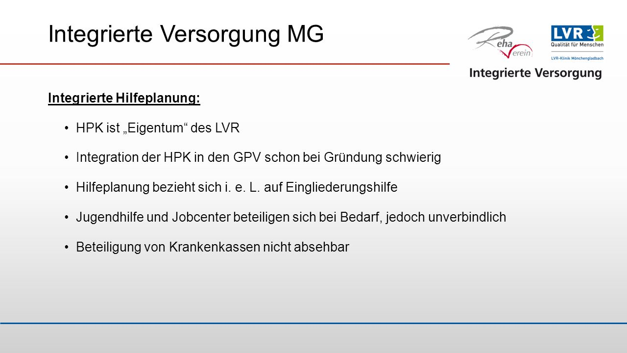 Integrierte Versorgung MG