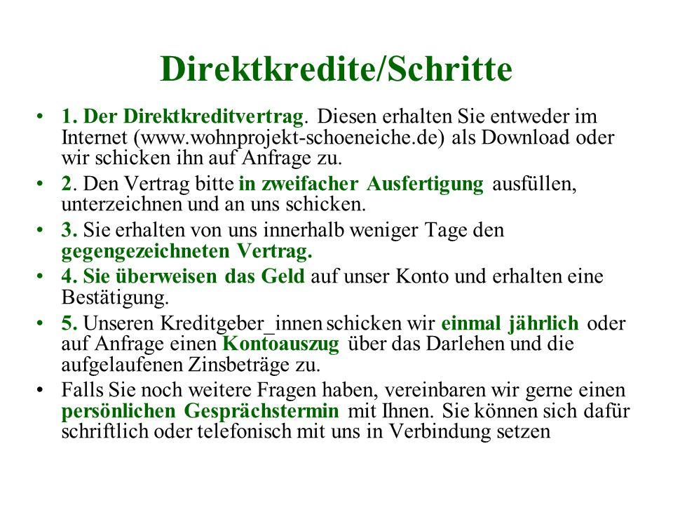Direktkredite/Schritte