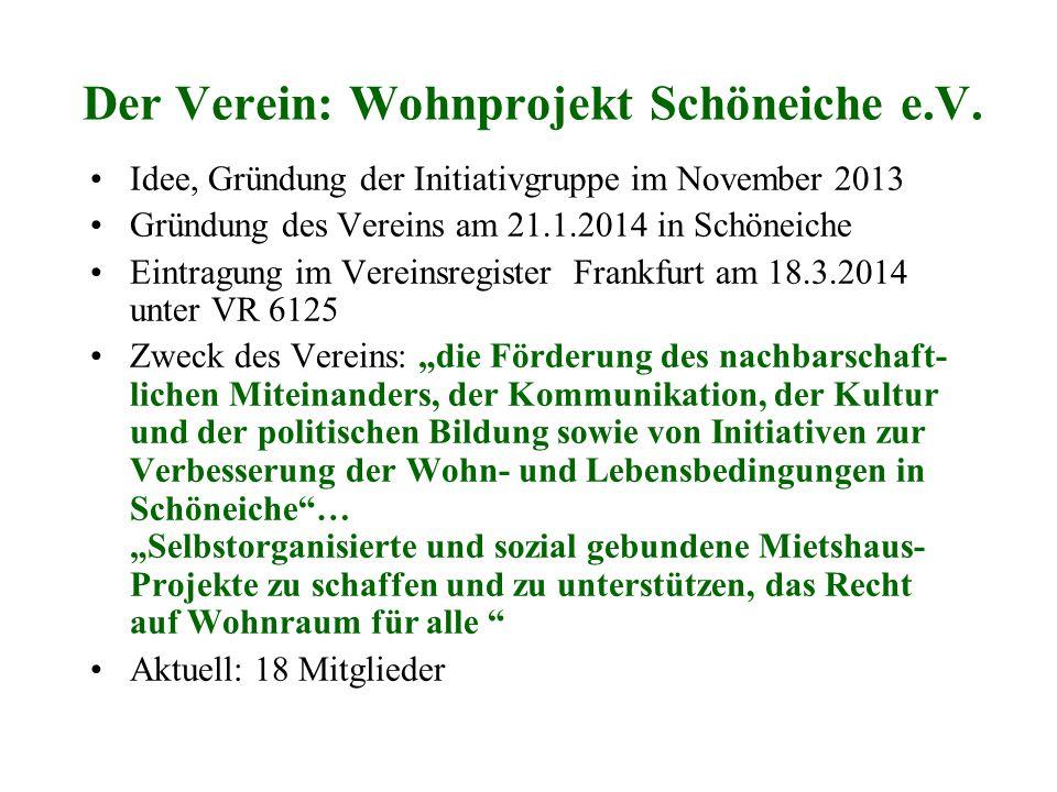 Der Verein: Wohnprojekt Schöneiche e.V.
