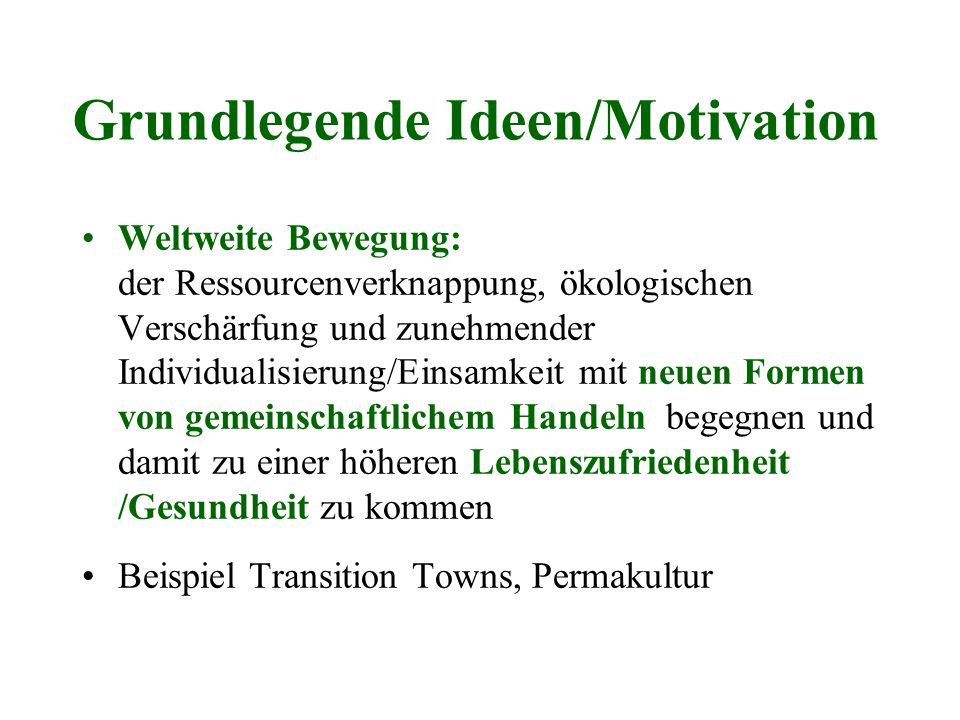 Grundlegende Ideen/Motivation