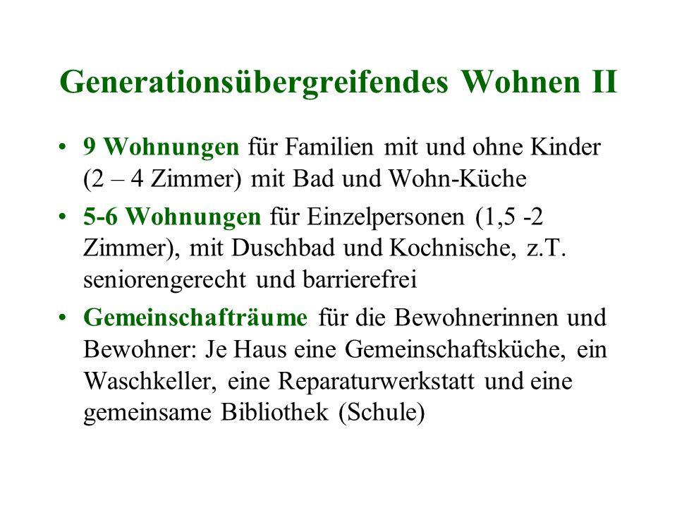 Generationsübergreifendes Wohnen II