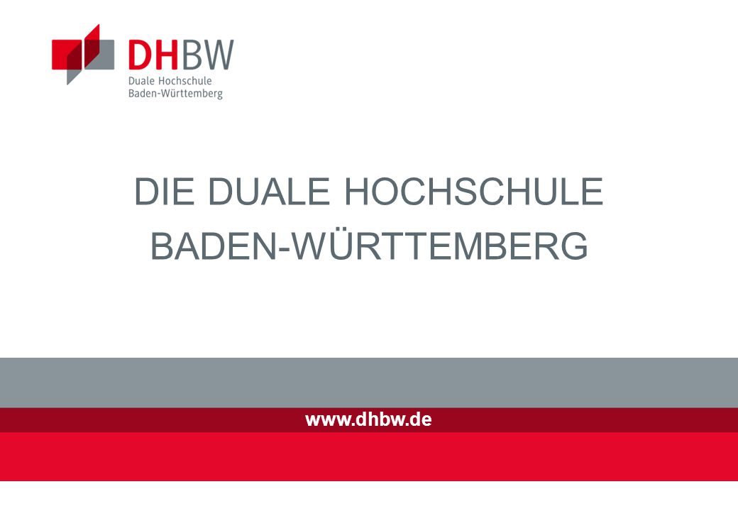 DIE DUALE HOCHSCHULE BADEN-WÜRTTEMBERG