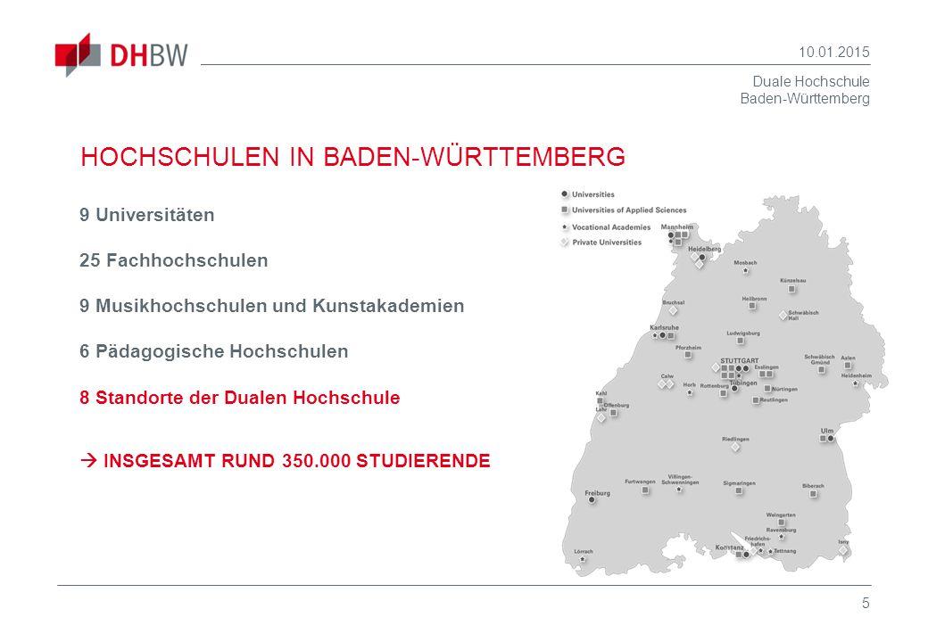 HOCHSCHULEN IN BADEN-WÜRTTEMBERG