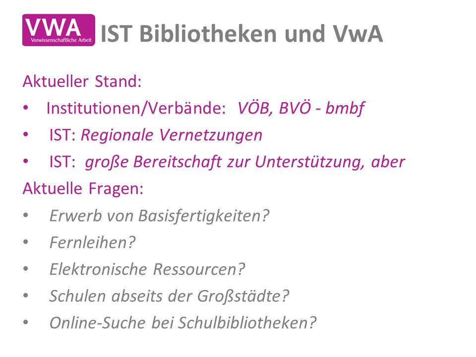 IST Bibliotheken und VwA