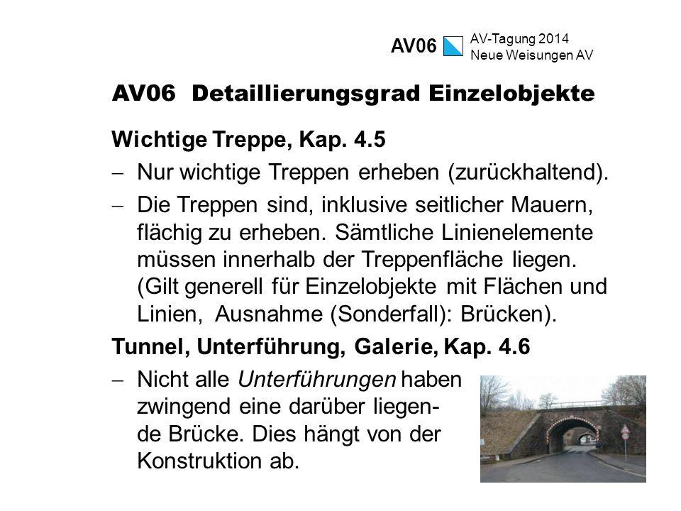 AV06 Detaillierungsgrad Einzelobjekte