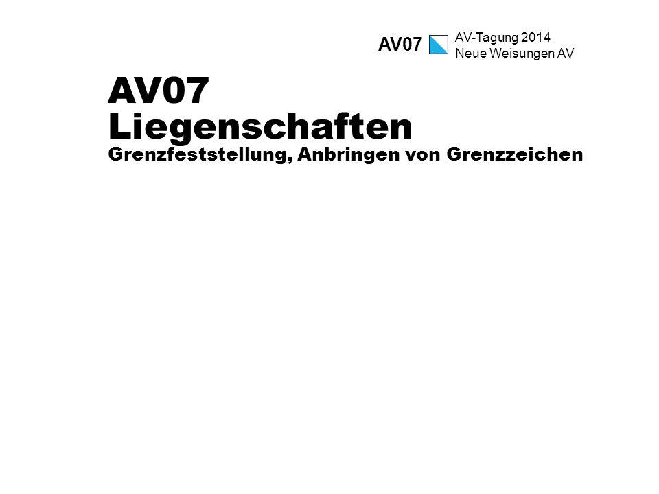 AV07 Liegenschaften Grenzfeststellung, Anbringen von Grenzzeichen