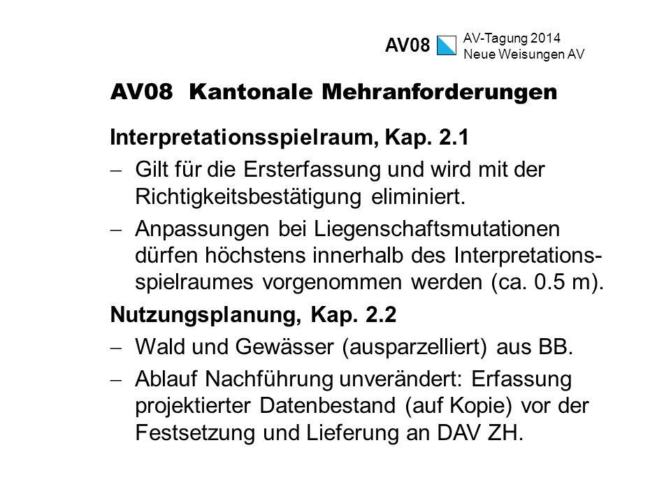 AV08 Kantonale Mehranforderungen