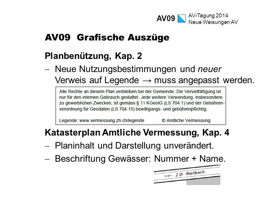 Katasterplan Amtliche Vermessung, Kap. 4
