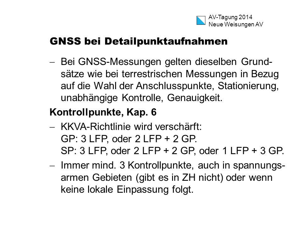 GNSS bei Detailpunktaufnahmen