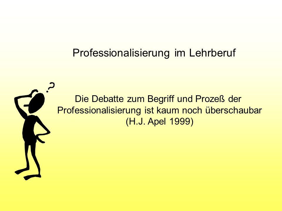 Professionalisierung im Lehrberuf