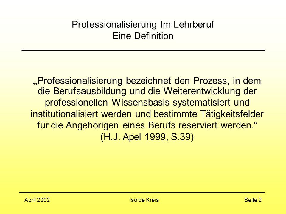 Professionalisierung Im Lehrberuf Eine Definition