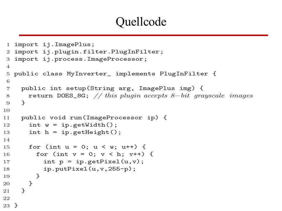 Quellcode BV: Kap 2 Image J