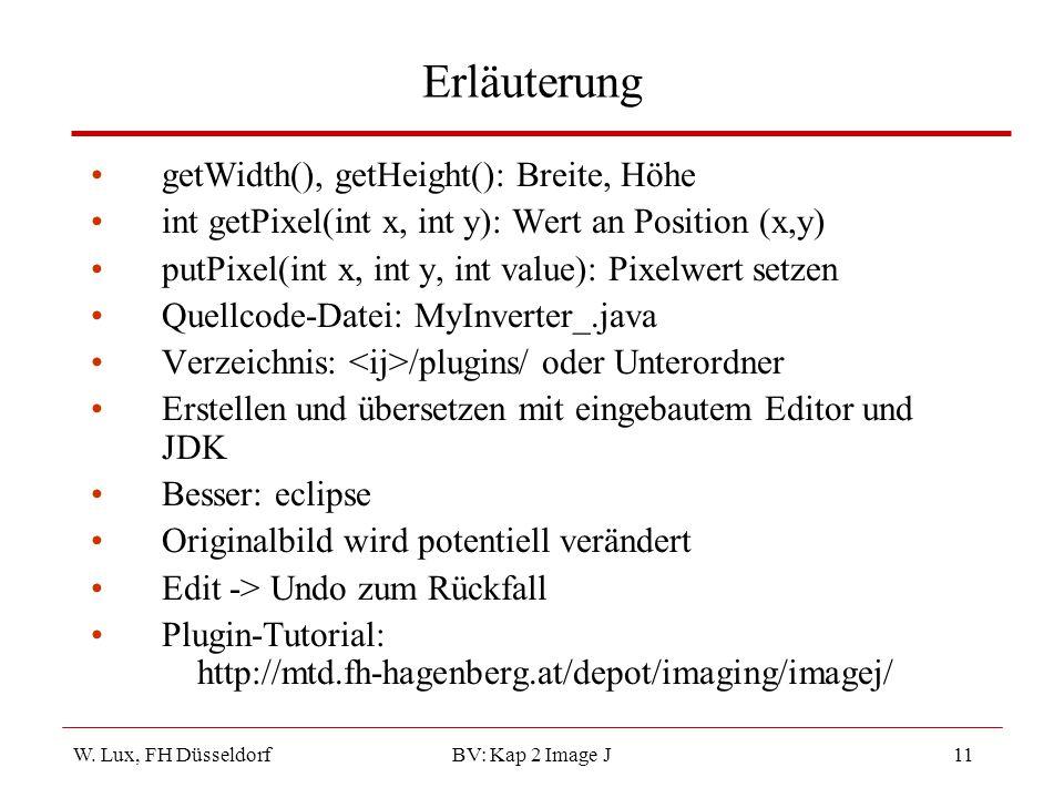 Erläuterung getWidth(), getHeight(): Breite, Höhe