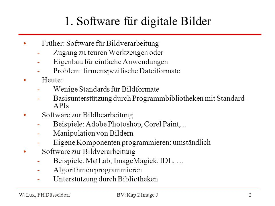 1. Software für digitale Bilder