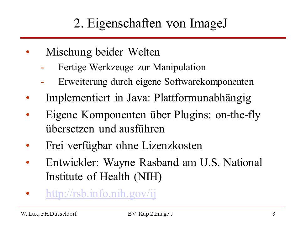 2. Eigenschaften von ImageJ