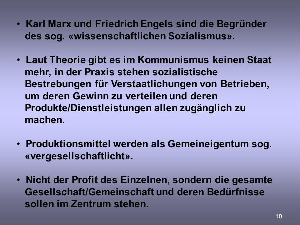 Karl Marx und Friedrich Engels sind die Begründer