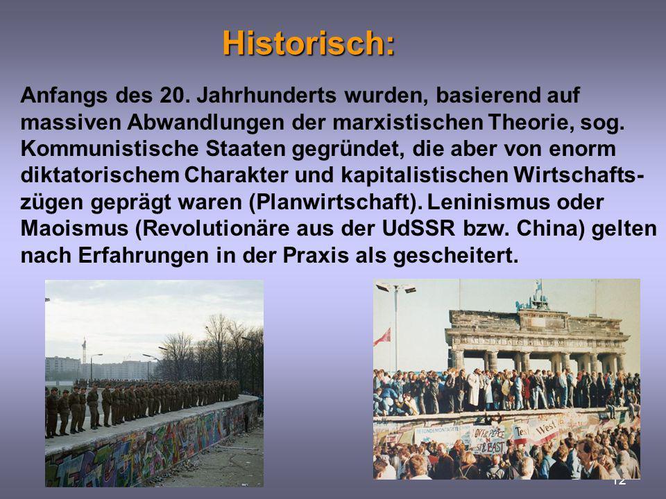 Historisch:
