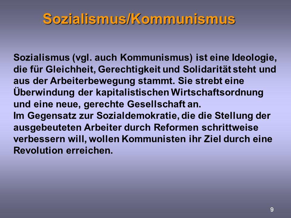 Sozialismus/Kommunismus
