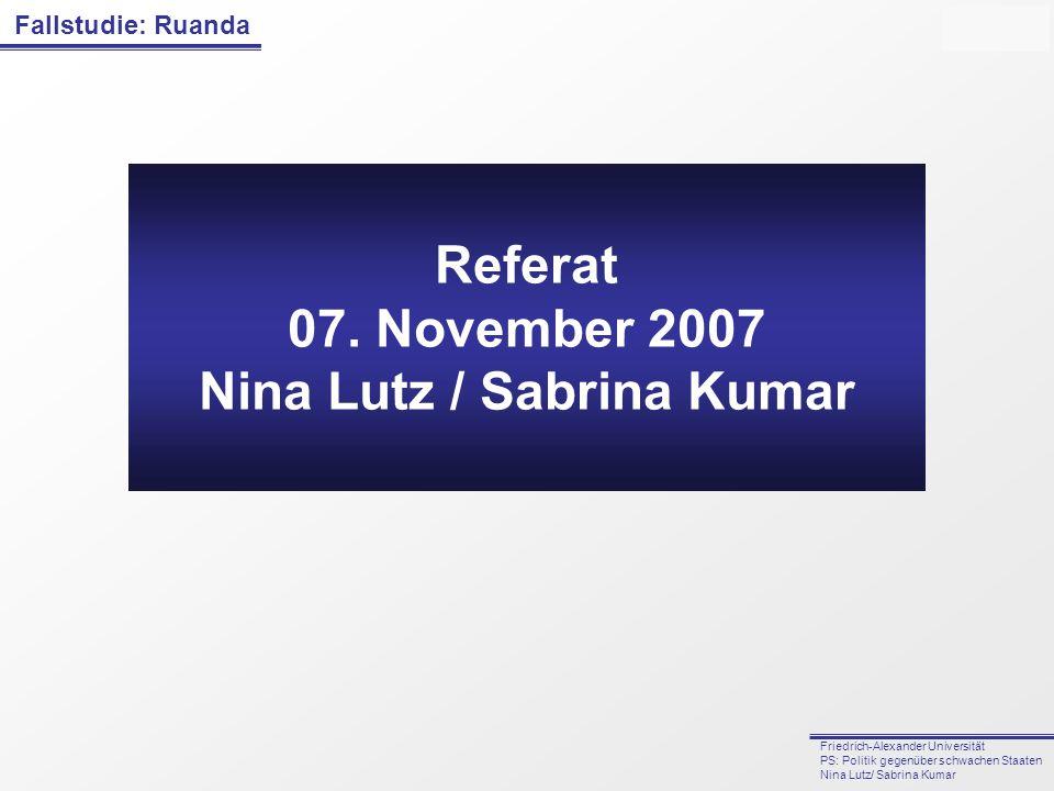 Nina Lutz / Sabrina Kumar