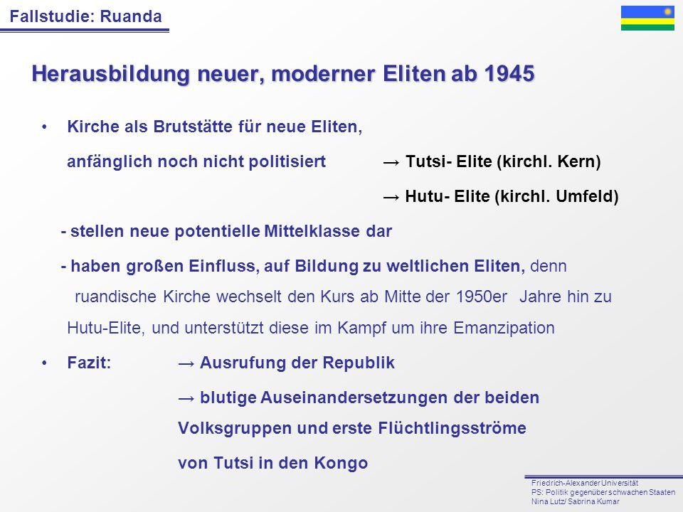 Herausbildung neuer, moderner Eliten ab 1945