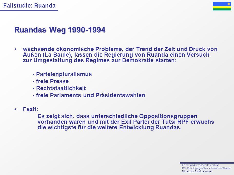 Ruandas Weg 1990-1994