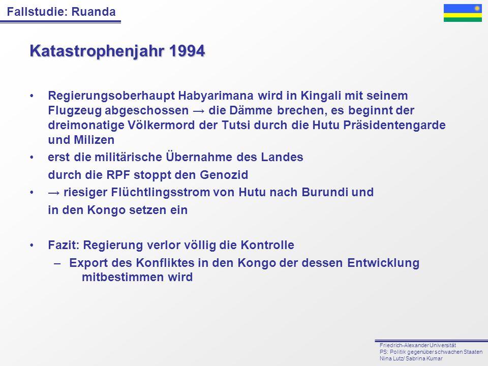 Katastrophenjahr 1994