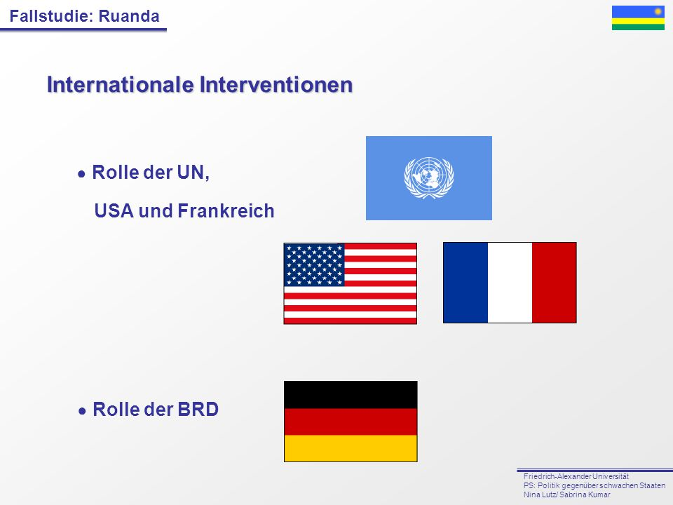 Internationale Interventionen