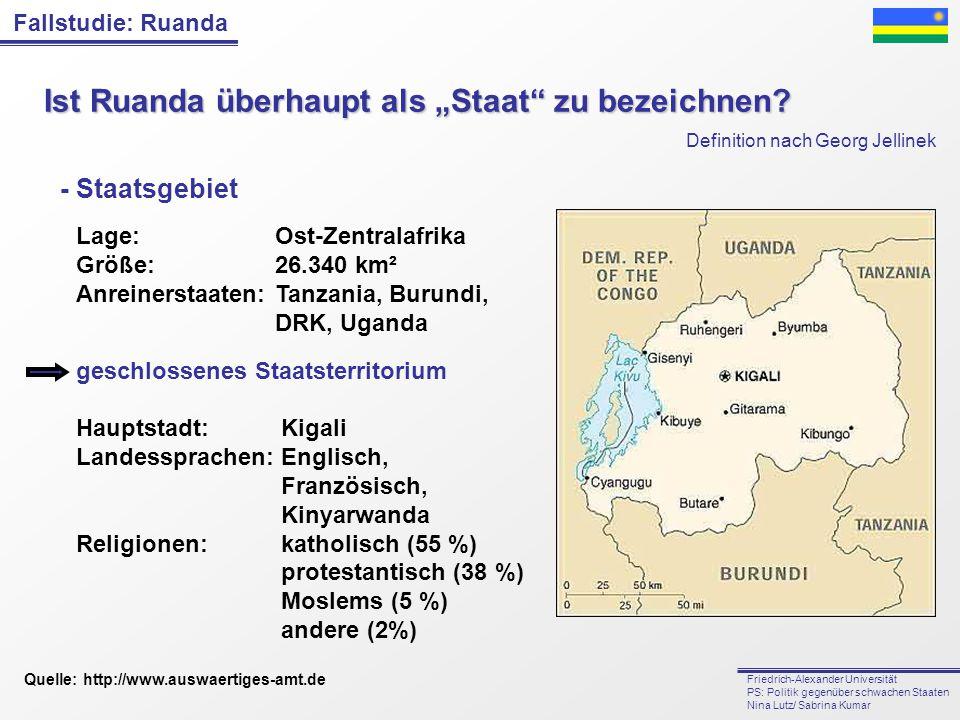 """Ist Ruanda überhaupt als """"Staat zu bezeichnen"""