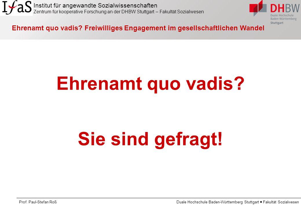 Ehrenamt quo vadis Sie sind gefragt!