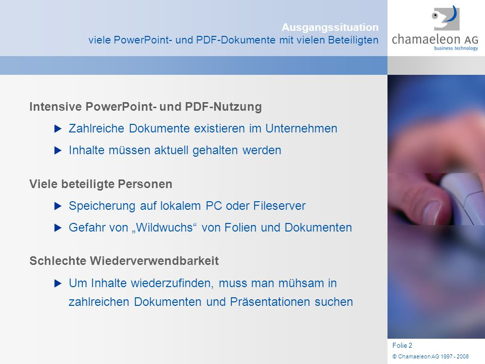 Intensive PowerPoint- und PDF-Nutzung