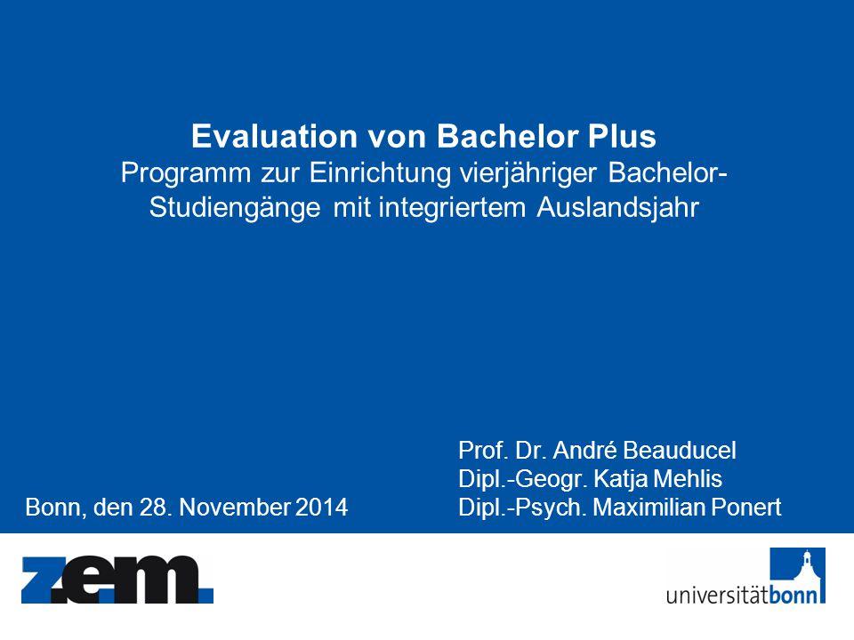 Evaluation von Bachelor Plus Programm zur Einrichtung vierjähriger Bachelor-Studiengänge mit integriertem Auslandsjahr