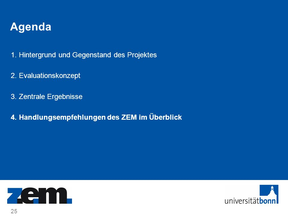 Agenda 1. Hintergrund und Gegenstand des Projektes