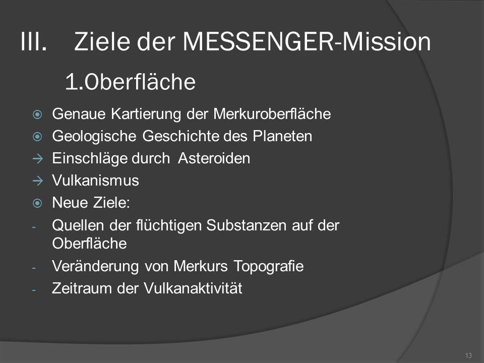 Ziele der MESSENGER-Mission