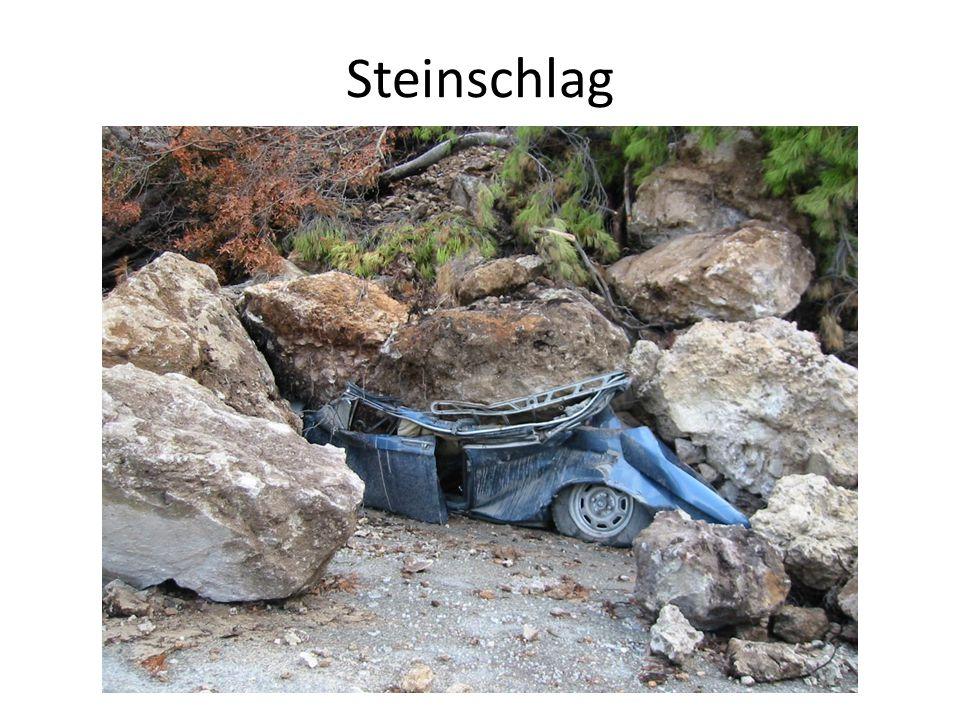 Steinschlag Die nötigen Informationen können den Lückentexten entnommen werden.