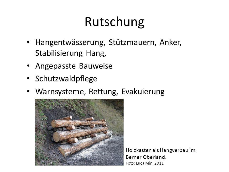 Rutschung Hangentwässerung, Stützmauern, Anker, Stabilisierung Hang,