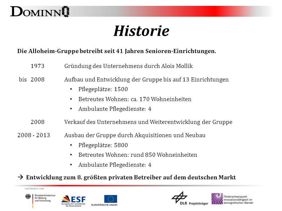Historie 1973 Gründung des Unternehmens durch Alois Mollik