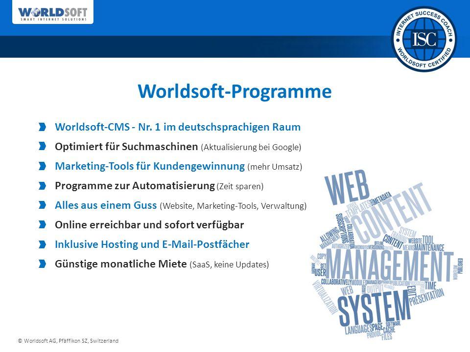 Worldsoft-Programme Worldsoft-CMS - Nr. 1 im deutschsprachigen Raum