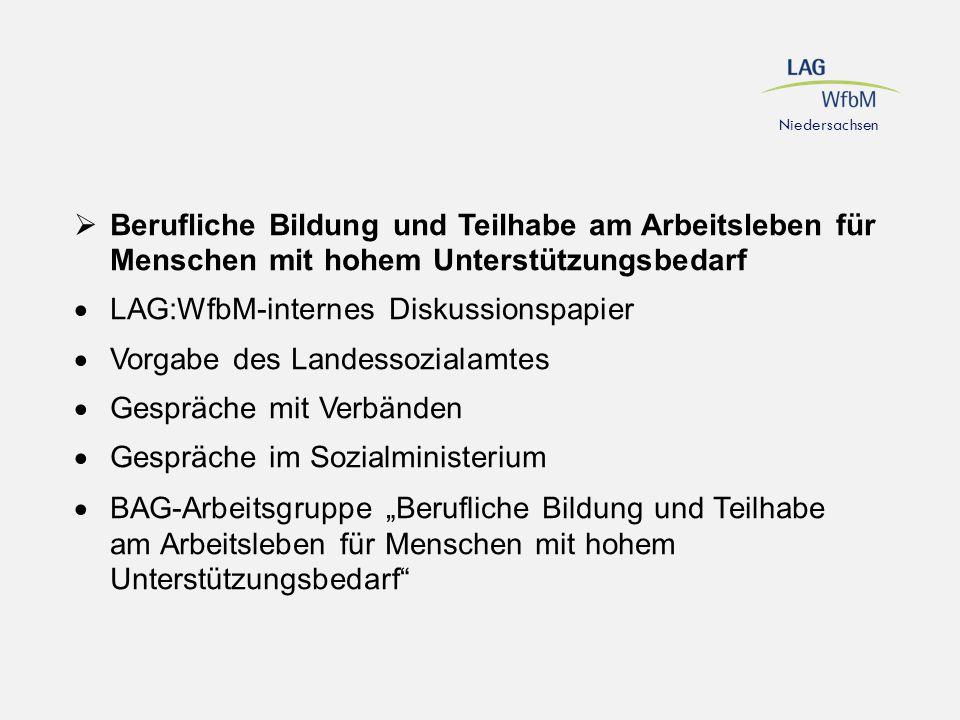 LAG:WfbM-internes Diskussionspapier Vorgabe des Landessozialamtes