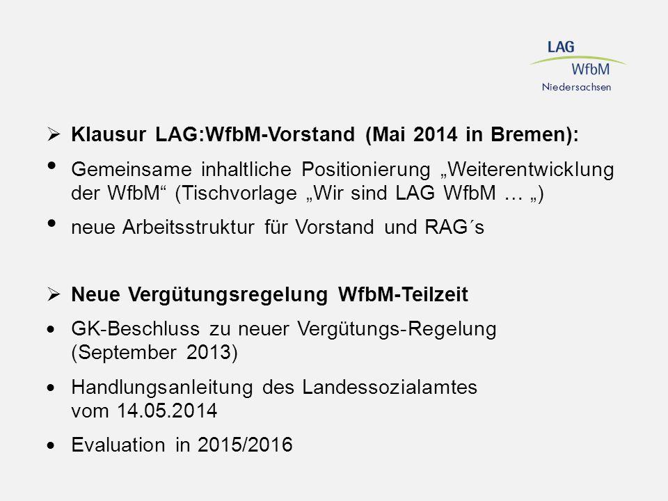 Klausur LAG:WfbM-Vorstand (Mai 2014 in Bremen):