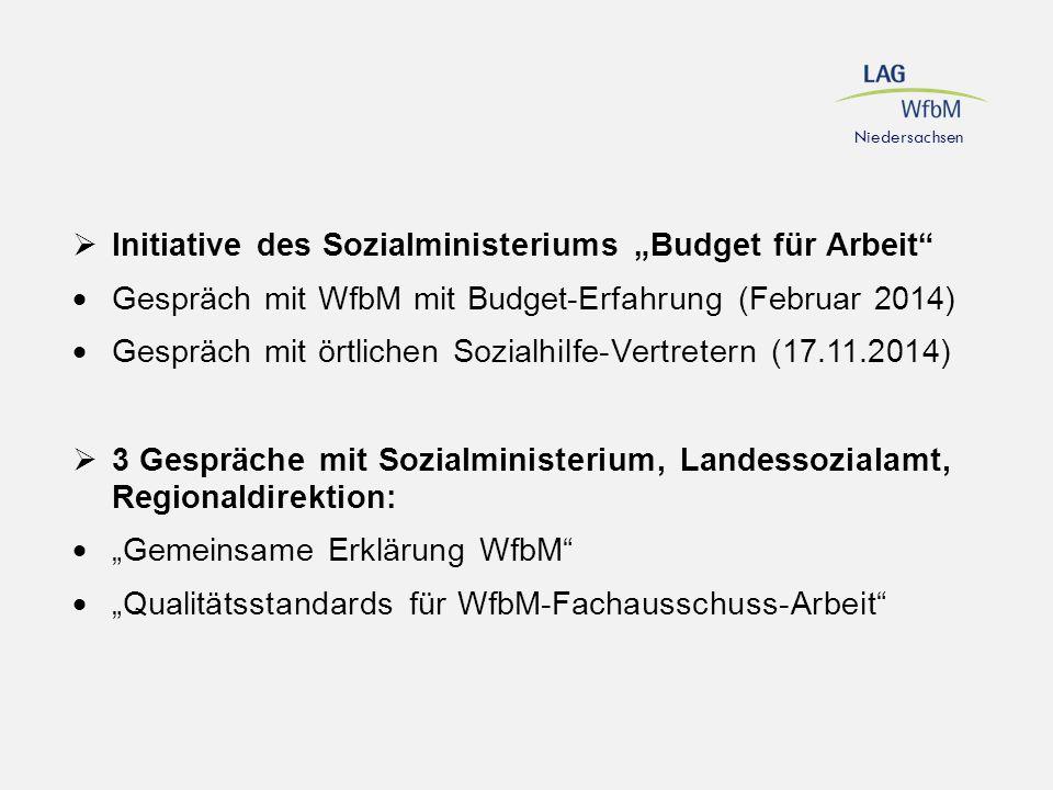 """Initiative des Sozialministeriums """"Budget für Arbeit"""