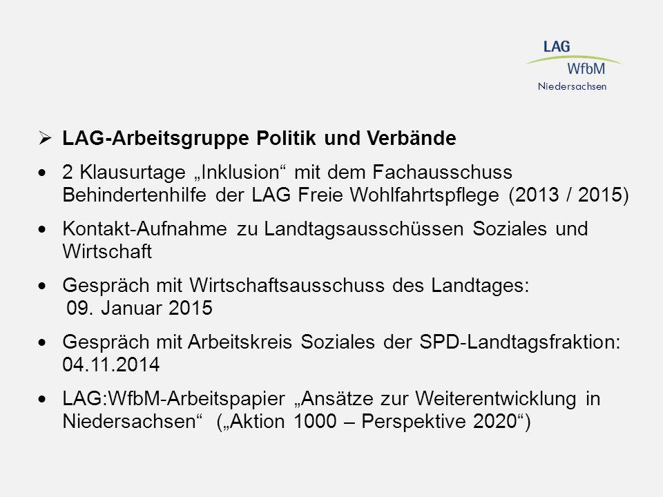 LAG-Arbeitsgruppe Politik und Verbände