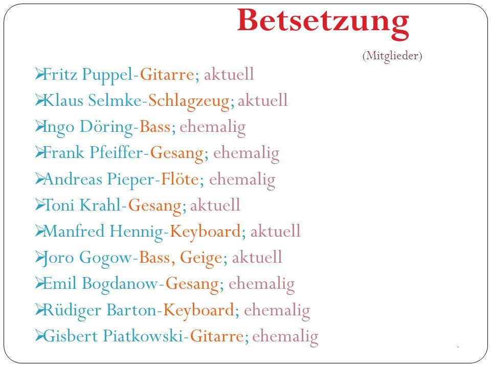 Betsetzung Fritz Puppel-Gitarre; aktuell