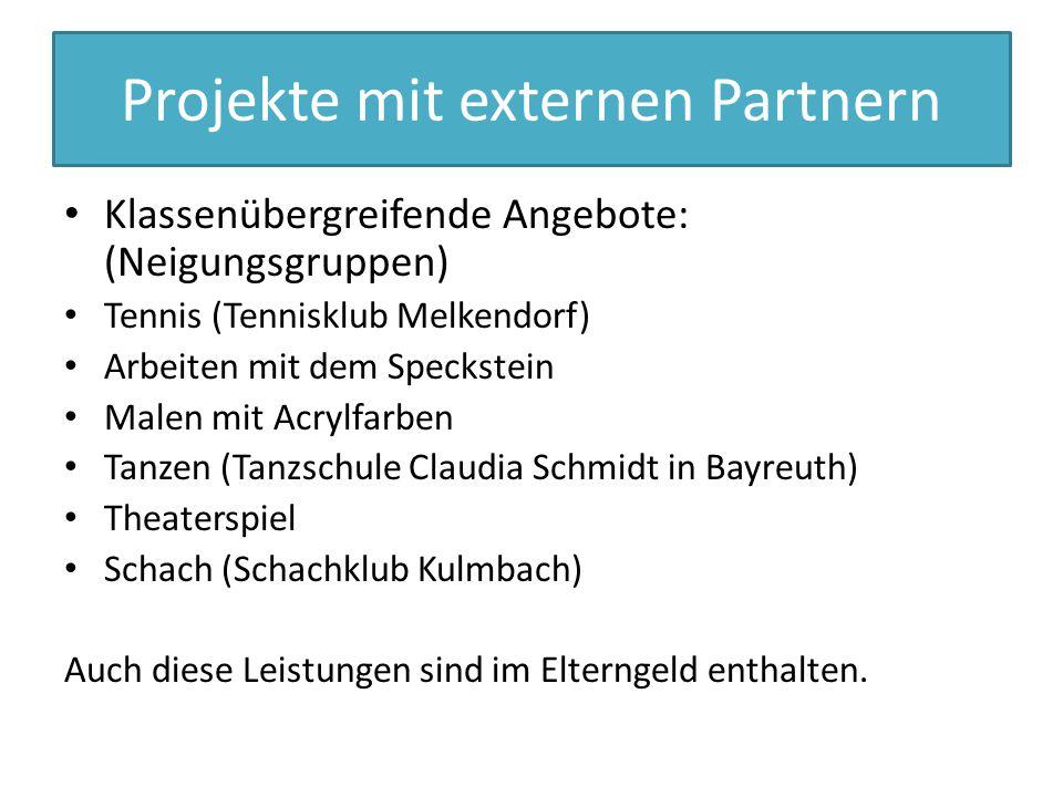 Projekte mit externen Partnern